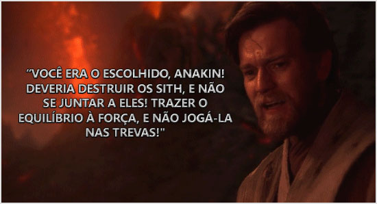 Diálogo entre Anakin Skywalher e obi-on