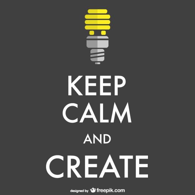 criatividade versus controle, fique calmo e crie